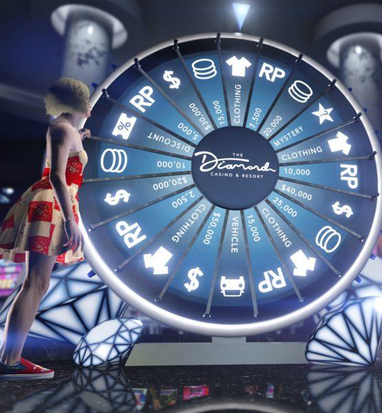Ein Glücksrad in GTA Online