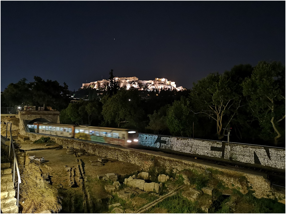 Blick auf die Akropolis von Athen