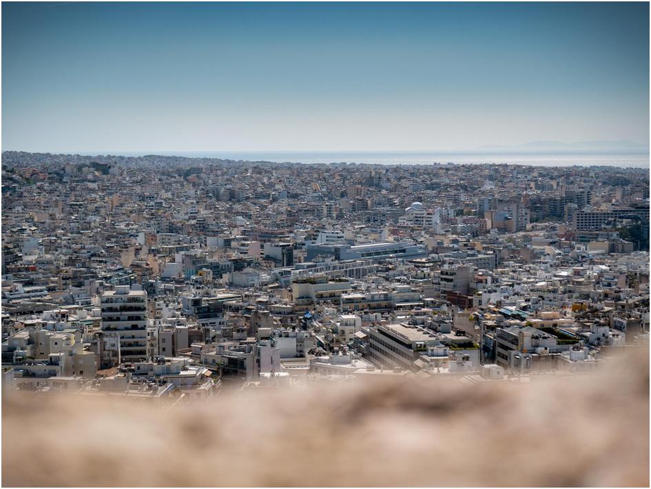 Blick von der Akropolis auf die Stadt