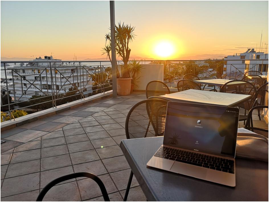 Sonnenuntergang in Athen