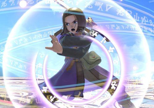Der Held aus dem neuesten Dragonquest in Super Smash Bros. Ultimate.