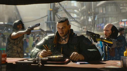 Cutscene aus Cyberpunk 2077
