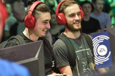 Spieler auf der Gamescom