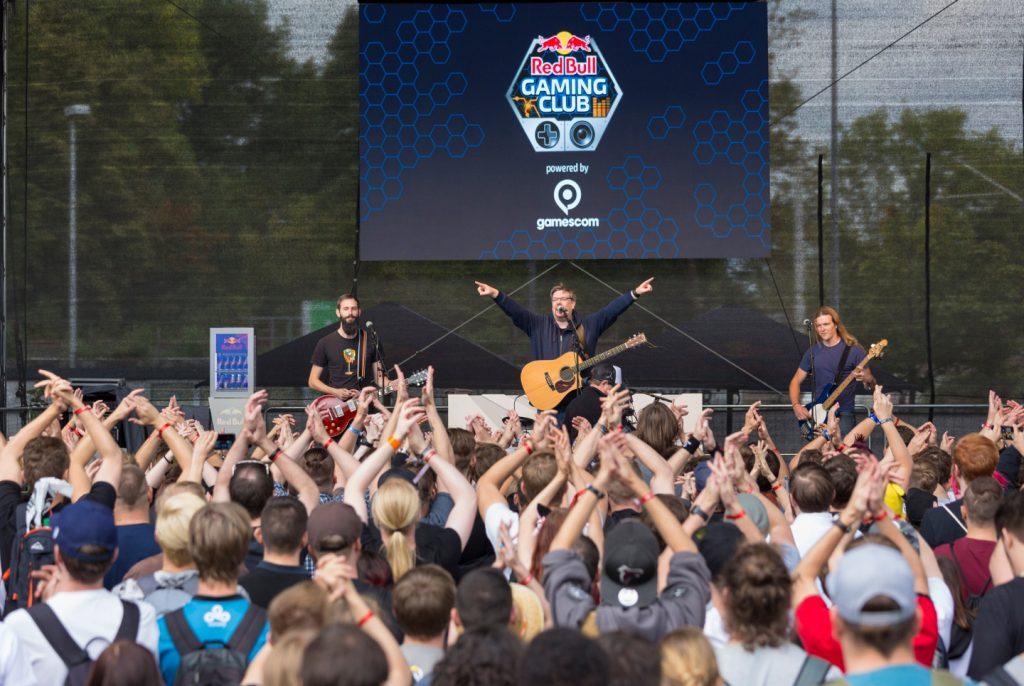 Auftritt von Jan Hegenberg auf der Gamescom 2018.