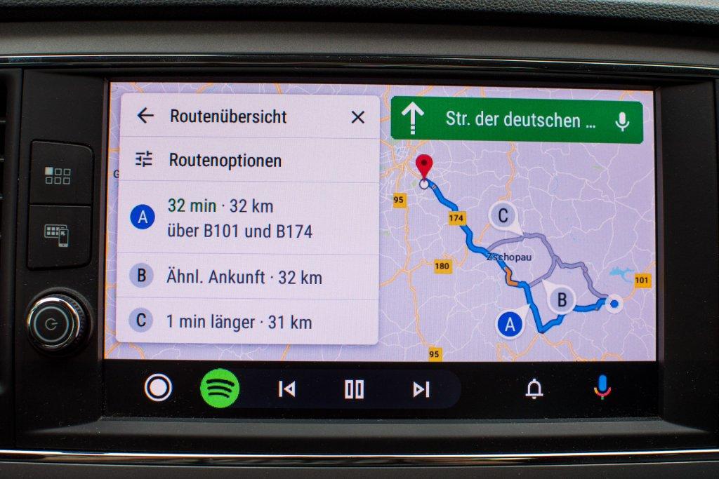 Google Maps auf Android Auto