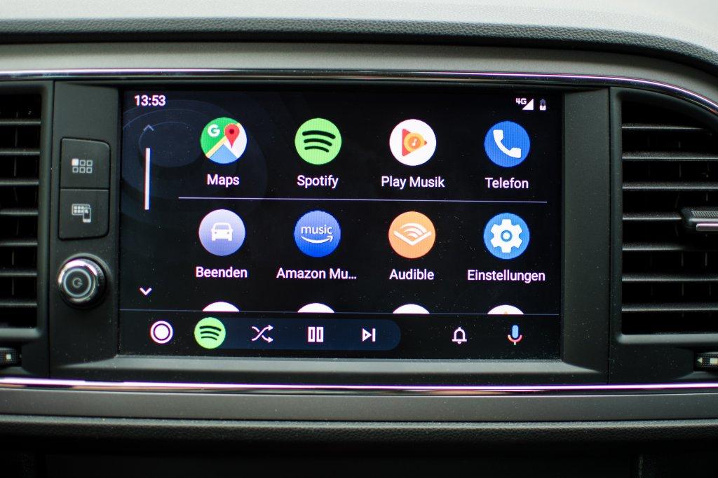 Die aufgeräumte Oberfläche von Android Auto