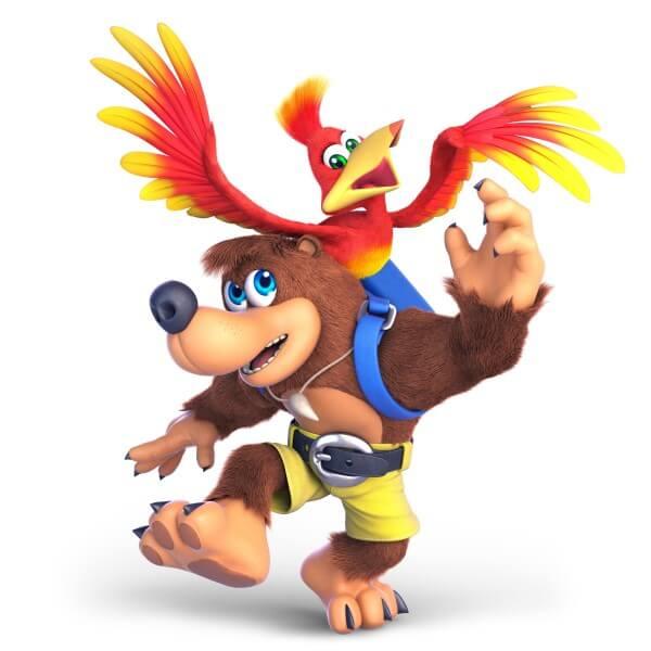 Banjo und Kazooie kämpfen auch mit.