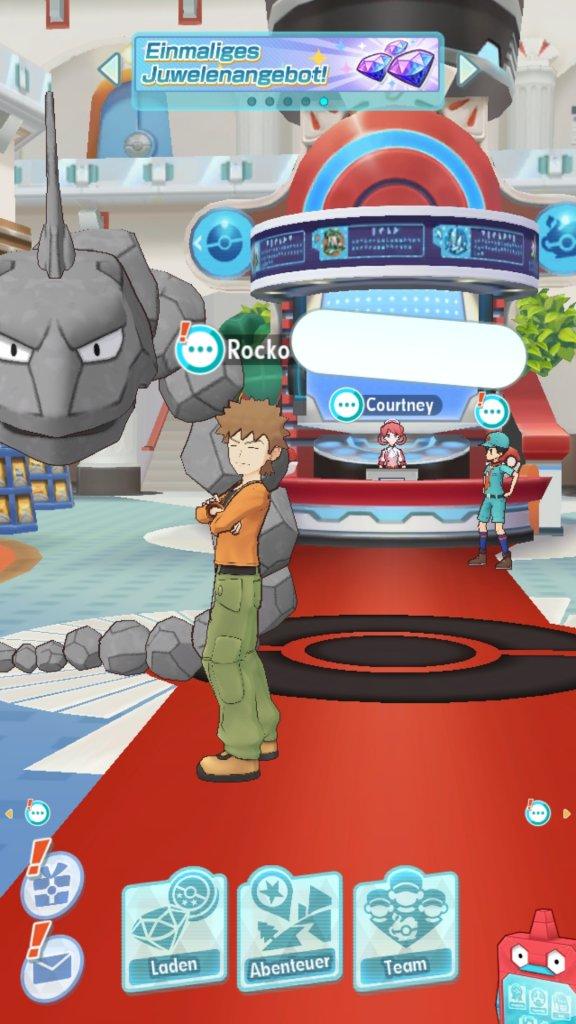 Das Poké-Center von Pokémon Masters.