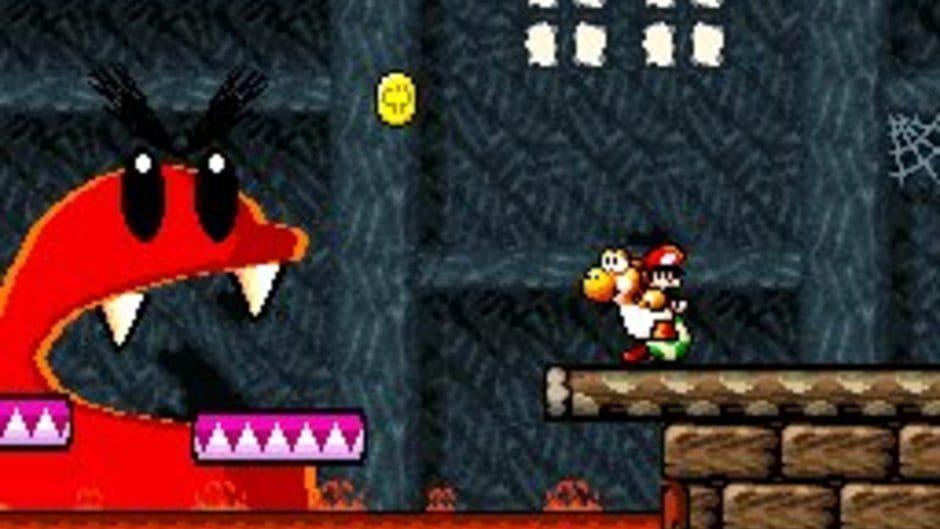 Yoshi muss Baby Mario helfen.