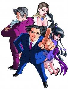 Die Protagonisten von Ace attorney