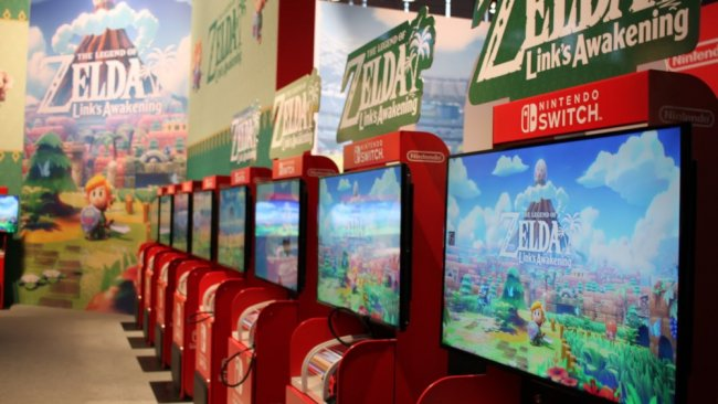 Zelda: Links Awakening Spielestation auf der Gamescom / Image by Lisa Kneidl
