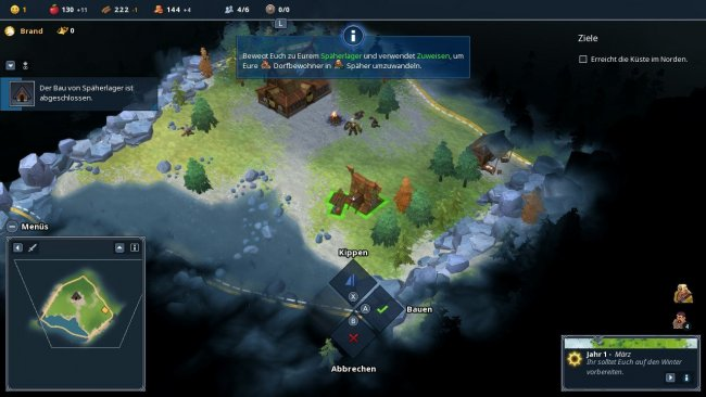 Das Bauen in Northgard / Screenshot-Image by Shiro Games