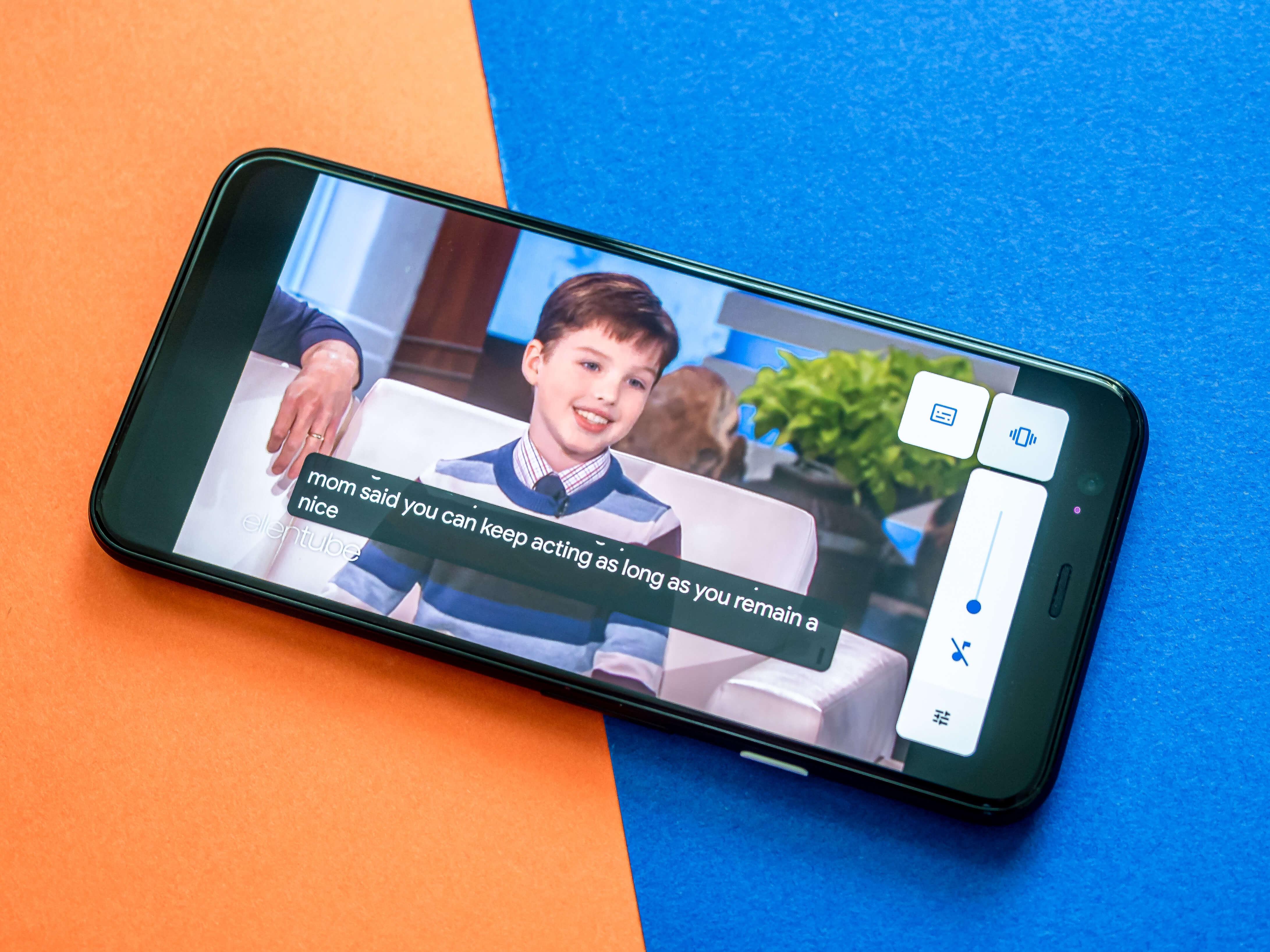 Google Pixel 4 im Test automatische Untertitel
