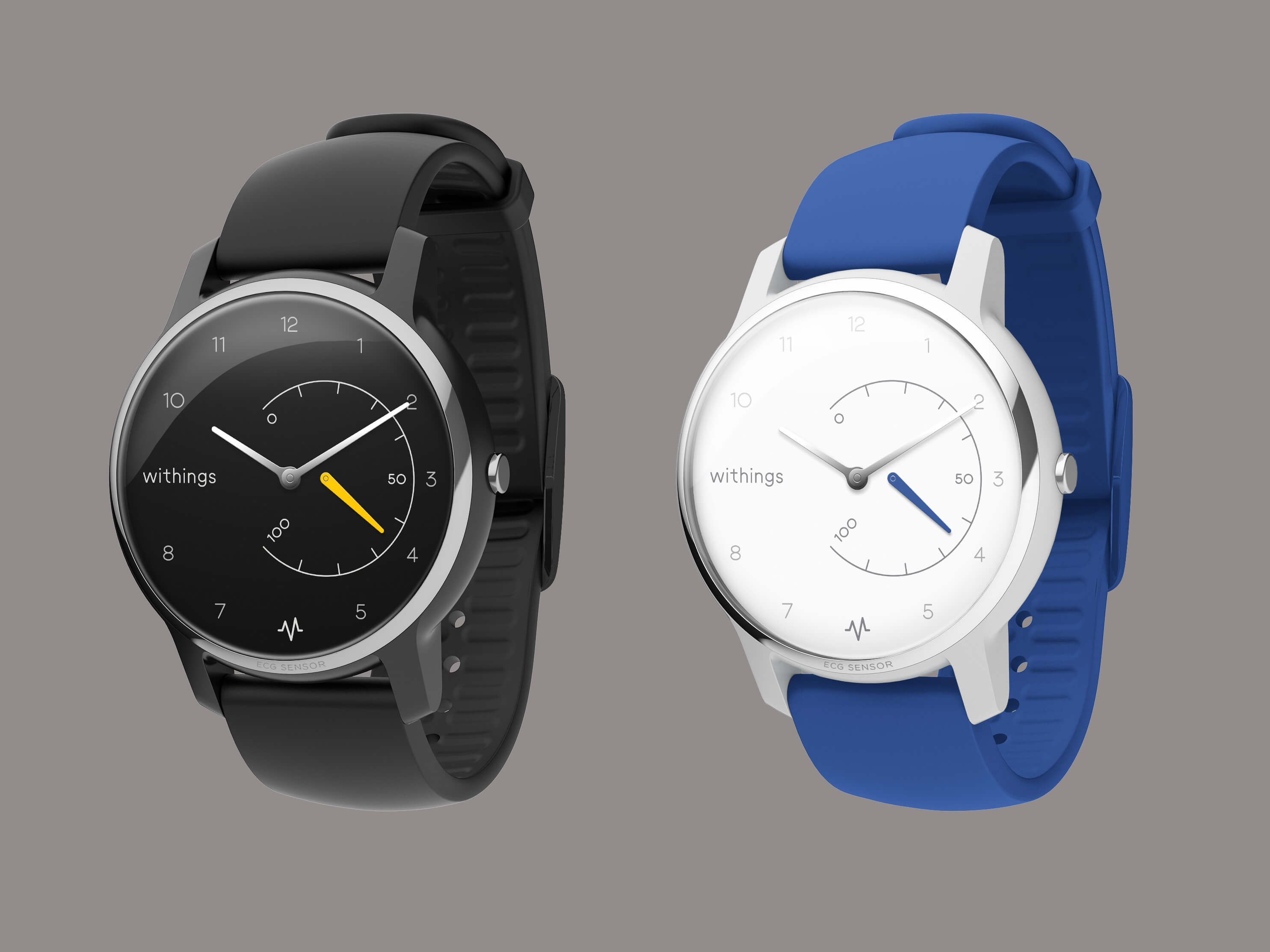 Withings Move ECG Schwarz Blau
