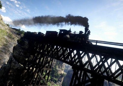 In Zug im Red Dead Redemption 2 Fotomodus