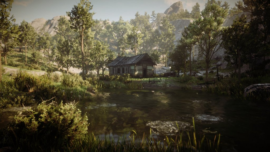 Ein Haus am See im Red Dead Redemption 2 Fotomodus