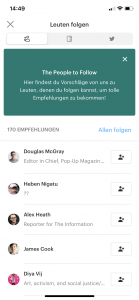 Nutzern in Pocket folgen