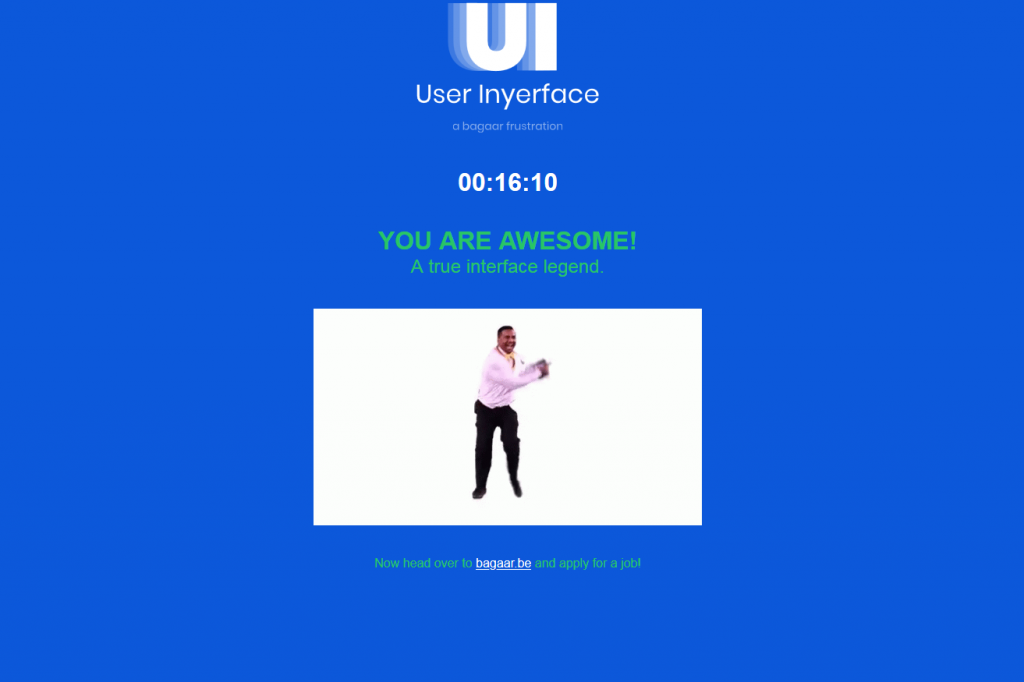 User-interface-endscreen