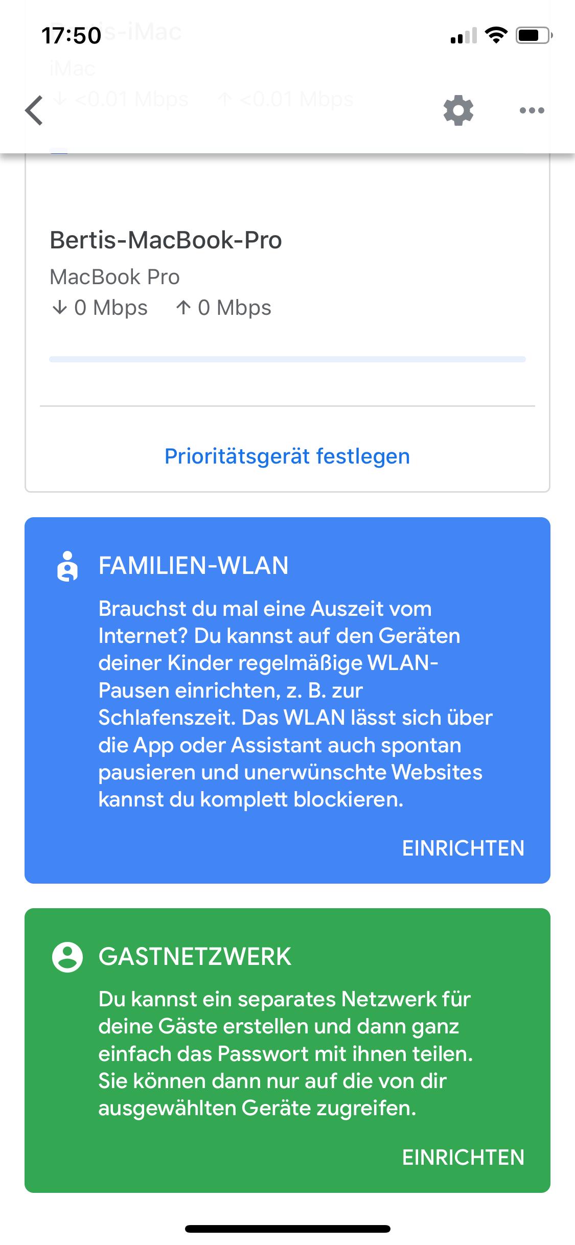 Google Home App Nest Wifi Steuerung