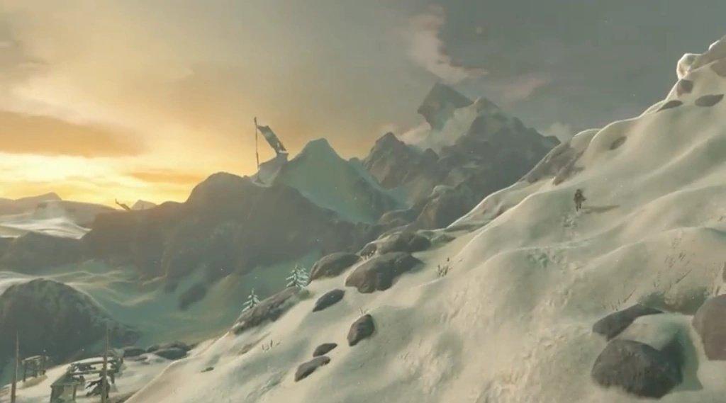 Screenshot aus dem zweiten Trailer von The Legend of Zelda Breath of the Wild von Nintendo.