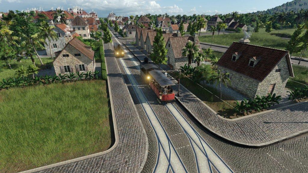 Erste Dampf-Straßenbahn