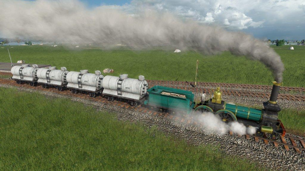 Ein erster Zug in Transport Fever 2