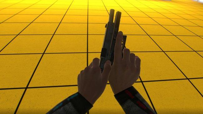 Screenshot aus Boneworks - Handling einer Pistole / Image by Stress Level Zero via IGDB.com