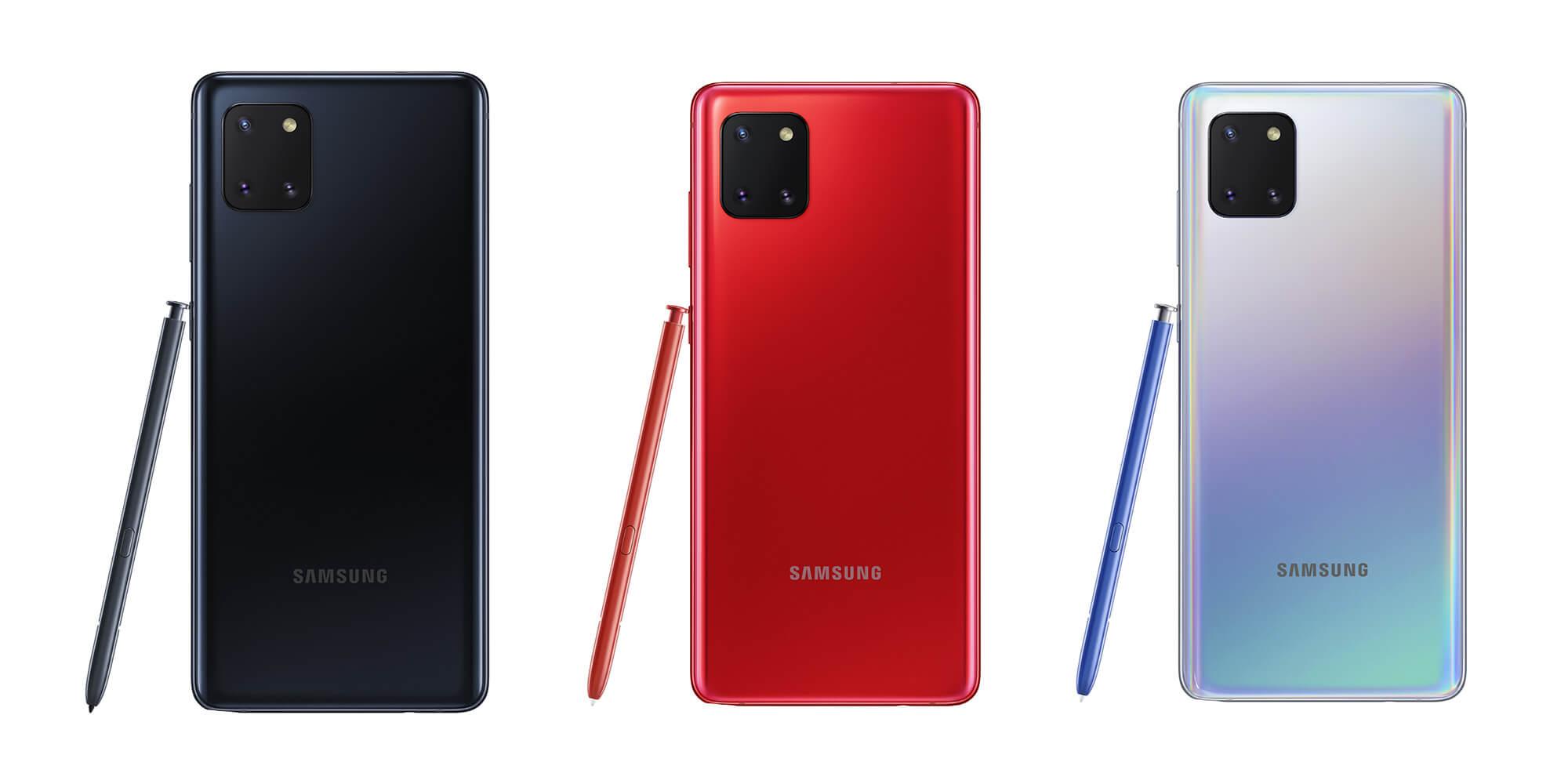 Samsung Galaxy Note 10 lite drei Farben
