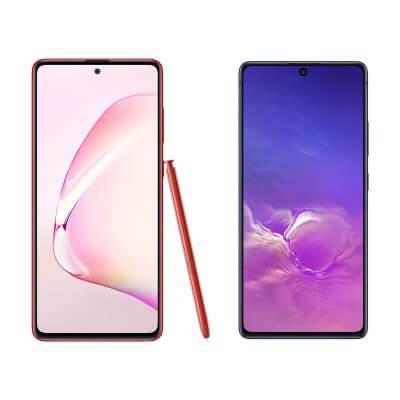 Samsung Galaxy Note 10 lite und Samsung Galaxy S10 lite