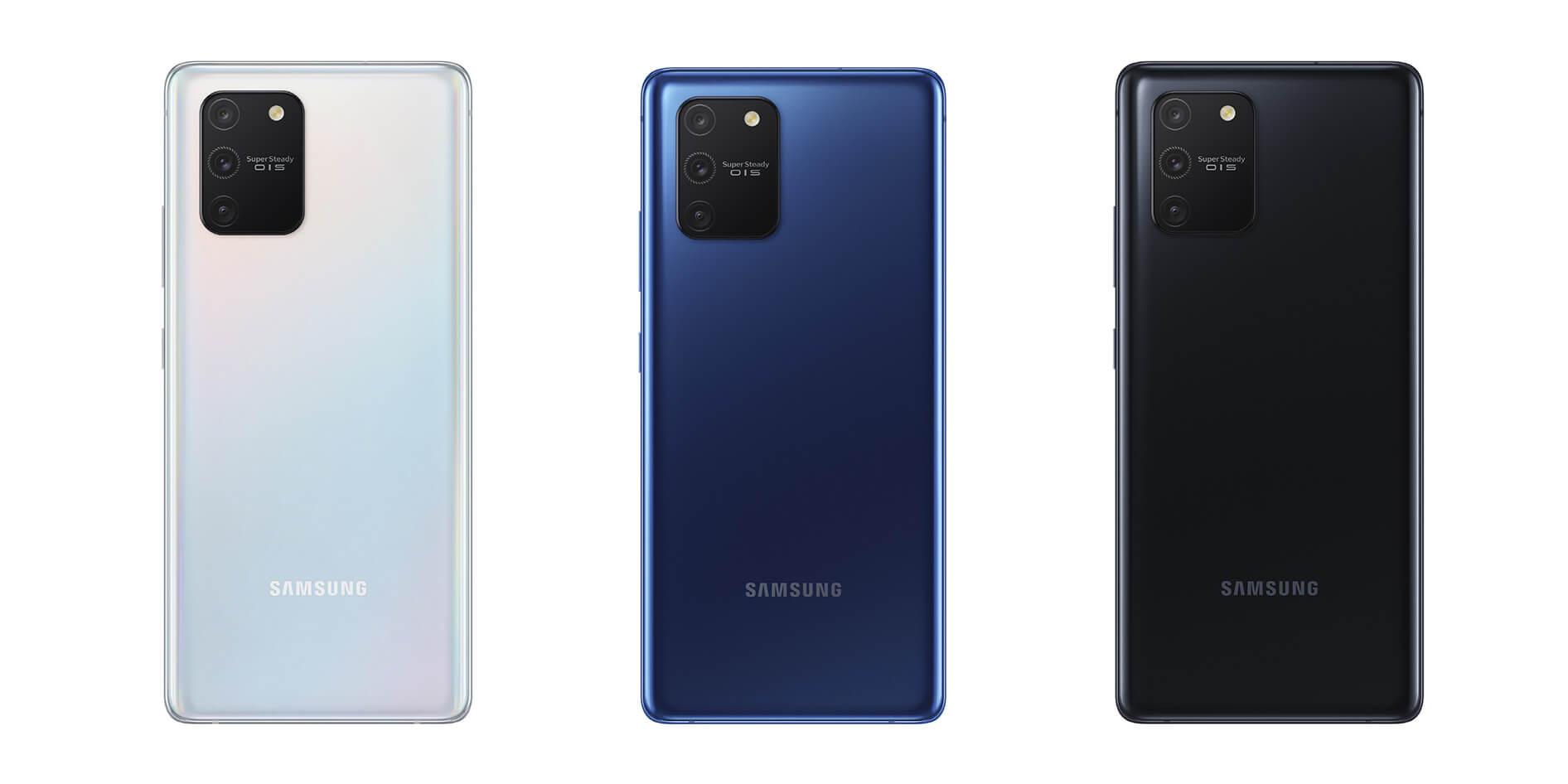 Samsung S10 lite drei Farben