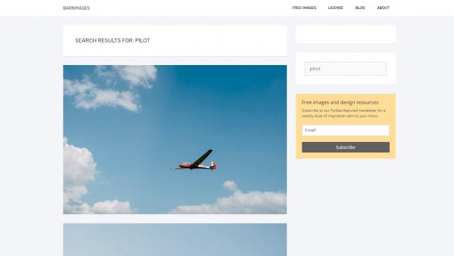 Die Suchergebnisse von Barnimages - Seite für kostenlose Stockfotos - Screenshot von Moritz Stoll