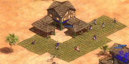 Screenshot aus Age of Empires 2. Zu sehen ist die Cursoranimation
