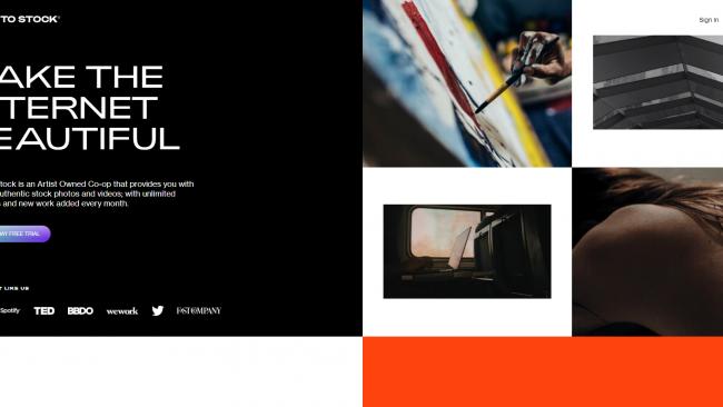 Death To Stock Photo ist eine Seite für freie Bilder Screenshot von Moritz Stoll