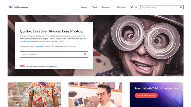 Gratisography  - Seite für kostenlose Stockfotos - Screenshot von Moritz Stoll