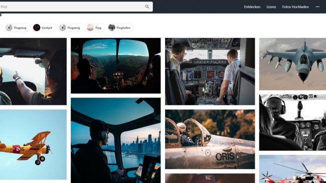 Die Resultate auf Pexels - Seite für kostenlose Stockbilder - Screenshot von Moritz Stoll