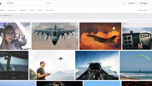 Anzeige der Suchergebnisse von Pixabay - Seite für kostenlose Stockfotos - Screenshot von Moritz Stoll