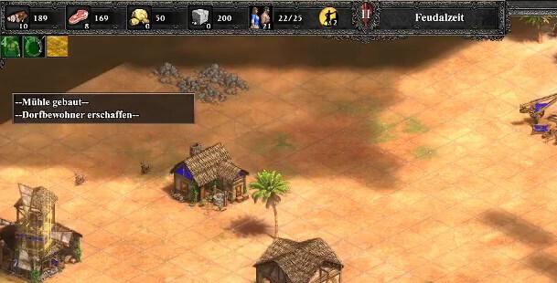 Screenshot aus Age of Empires 2. Zu sehen ist ein Teil des Interfaces. Screenshot von Moritz Stoll
