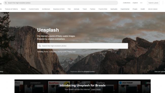 Suchmaske auf Unsplash - Seite für kostenlose Stockbilder - Screenshot von Moritz Stoll