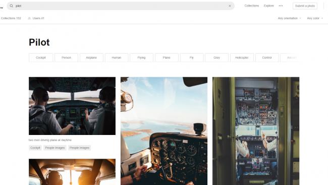 Suchergebnisse auf Unsplash - Seite für kostenlose Stockbilder - Screenshot von Moritz Stoll