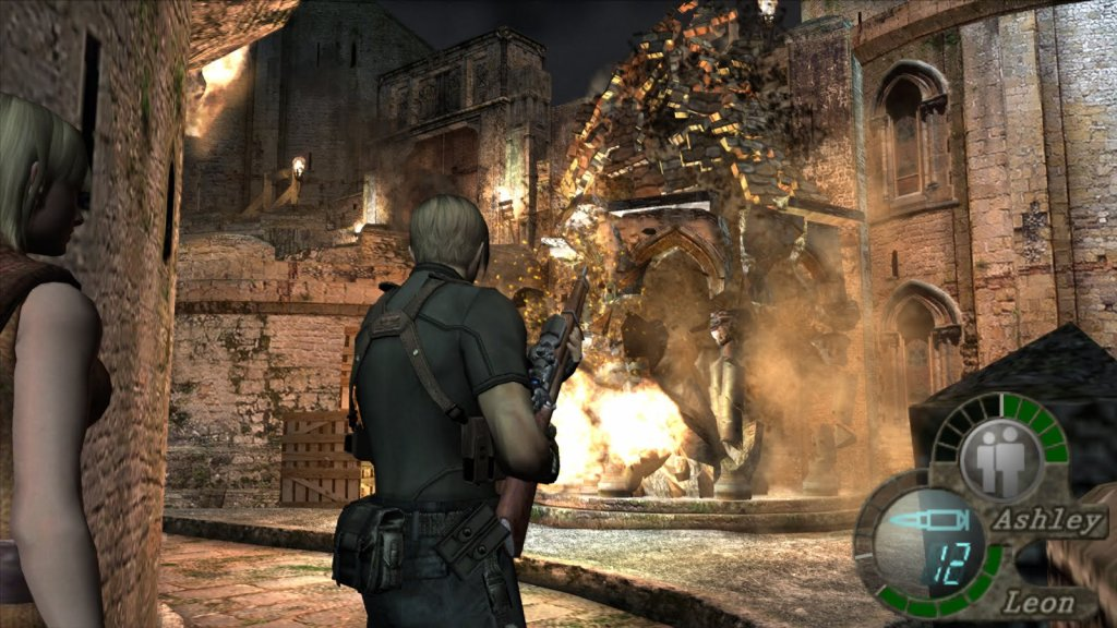 Leon und Ashley in Resident Evil 4. Image by Capcom via igdb.com