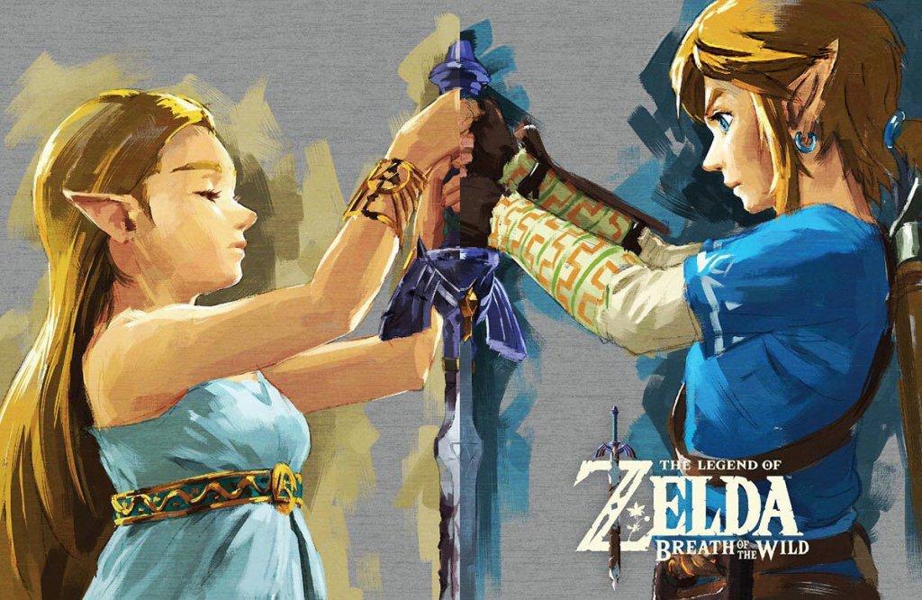 Link, Zelda und das Master-Schwert. Image by Nintendo via igdb.com