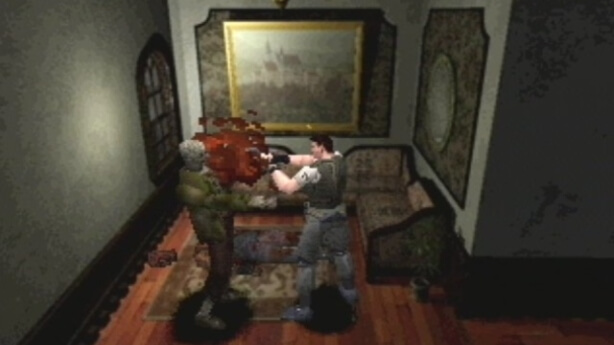 Chris Redfield in Resi 1 Image by Capcom via igdb.com