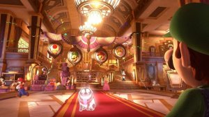 Lobby in Luigis Mansion 3. Image by Nintendo via igdb.com