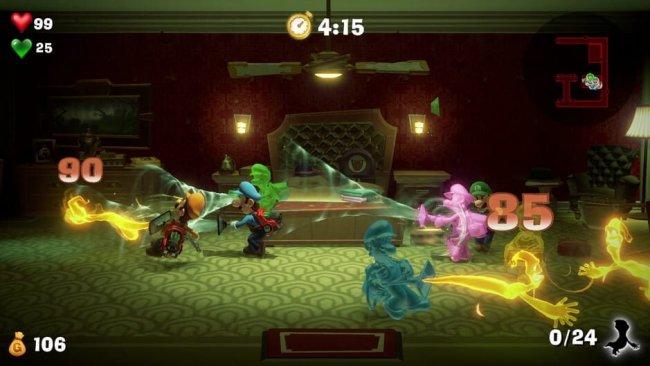 Der Mehrspieler-Modus von Luigis Mansion 3. Image by Nintendo via igdb.com