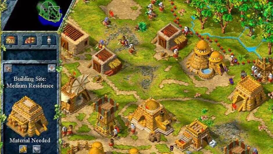 Eine ägyptische Siedlung im Spiel