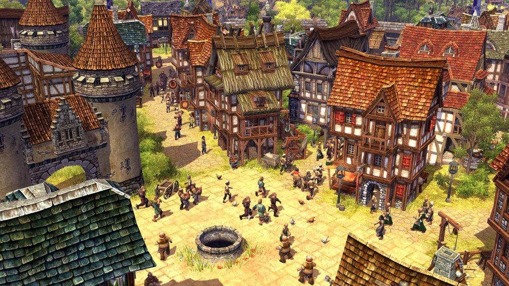 Der belebte Markt einer Stadt in Aufstieg eines Königreichs