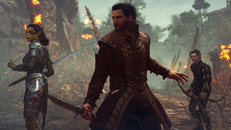 Drei Helden aus dem Spiel Baldur's Gate 3