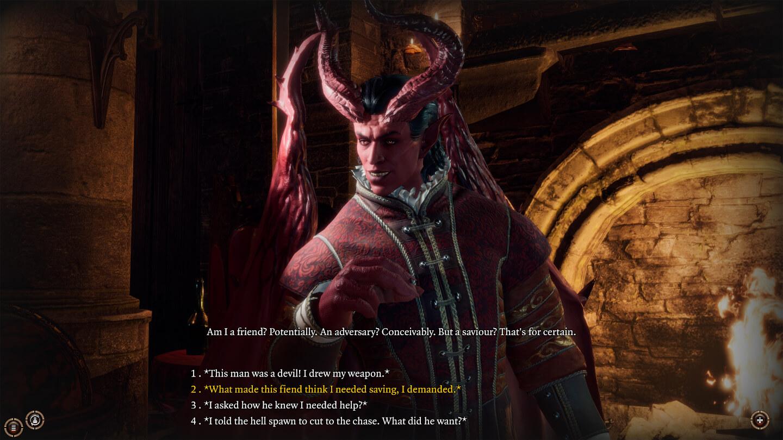 Dialog mit einem dämonenartigen Wesen