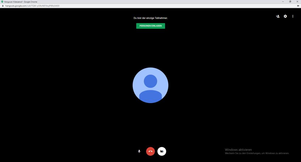 Screenshot aus Google Hangouts für Video-Call-Guide / Screenshot by Moritz Stoll