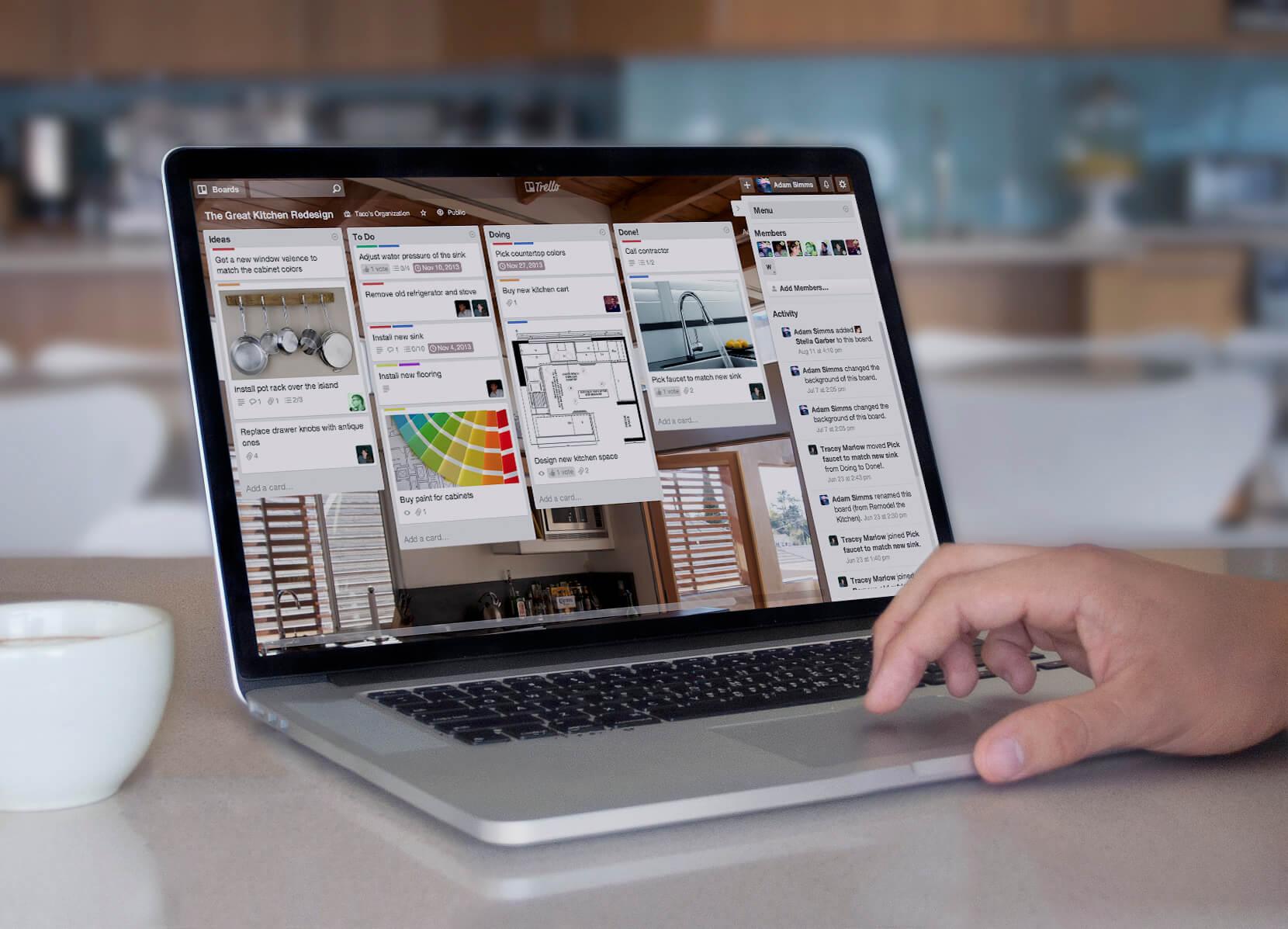 Trello auf einem Macbook